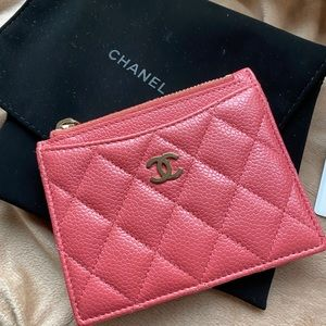 Chanel cardholder pink 2018summer collection